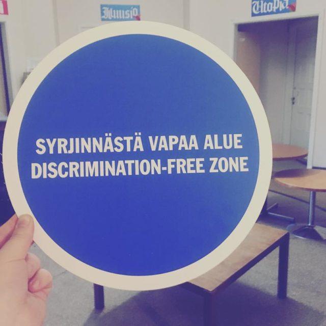 Jee nyt Humanistiklusteri on virallisesti syrjinnstvapaa ! humanistiklusteri humde postiahumdellehellip